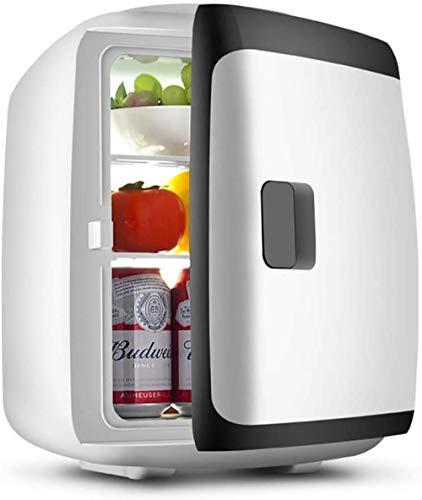 Mini refrigerador Refrigerador eléctrico Refrigerato portátil Tablero de partición extraíble Puerta Simple Refrigeración y calefacción 2 en 1 Bajo Consumo Bajo Consumo de energía 13L Azul-Negro