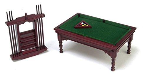 Town Square Miniatures Muebles para Casa de Muñecas 1:12 Escala Caoba Billar Juego M