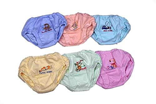 little PANDA Kids Unisex Soft Hosiery Cotton Panties, Multi-Colored (Pack of 6) (4-5 Years)