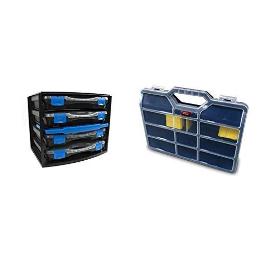 Tayg 301551 Multibox con 4 estuches con separadores móviles 22, 335 x 250 x 275 mm + - Estuche con separadores moviles n.45