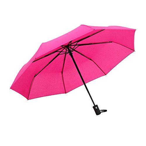 Cebbay-Paraguas Paraguas Plegable Hombre Automático Antiviento Plegable con Apertura y Cierre Automático...