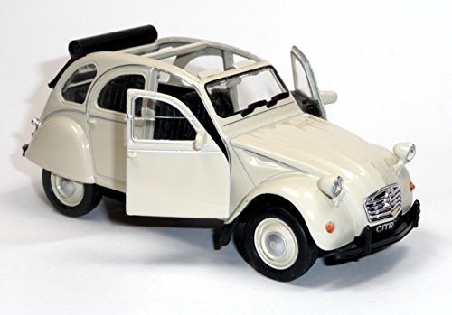 Citroen 2CV beige Ente offen Modellauto