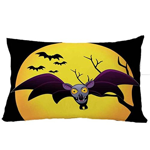 jieGorge 30*50cm Halloween Square Pillow Cover Cushion Case Pillowcase Zipper Closure , Pillow Case for Halloween Day (R)