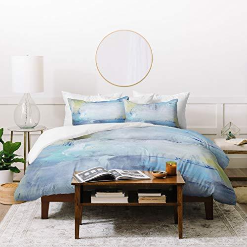 Society6 70542-cmwtw3 Julia Contacessi Glimpses Inside Bettdecken-Set mit Kissenbezügen, Twin/XL, Blau