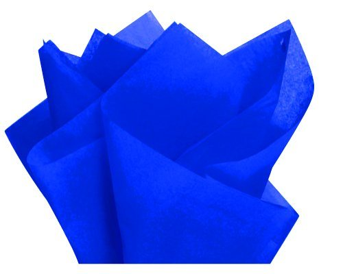 Royal Blue Gift Wrap Pom Pom Tissue Paper- 100sheets 15x20inches