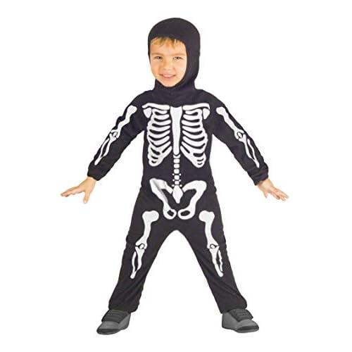 Ciao-Costume Scheletro bambini unisex, 3-4 anni, Nero, 61323.3-4.DS
