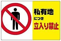 私有地につき立入り禁止 金属板ブリキ看板警告サイン注意サイン表示パネル情報サイン金属安全サイン