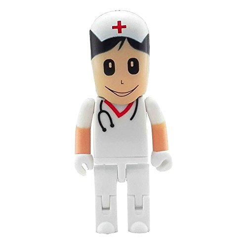 Aneew - Memoria USB (16 GB), diseno de Enfermera Pendrive Doctor Surgeon (16.00GB)