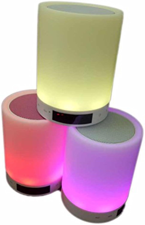 MFFACAI Touch LED-Lampe Wecker Bett Kopf Licht kreative, drahtlose Blautooth-Lautsprecher leuchtet