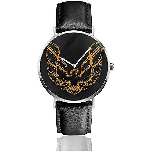 Unisex Business Casual Pontiac Firebird Uhren Quarz Leder Uhr