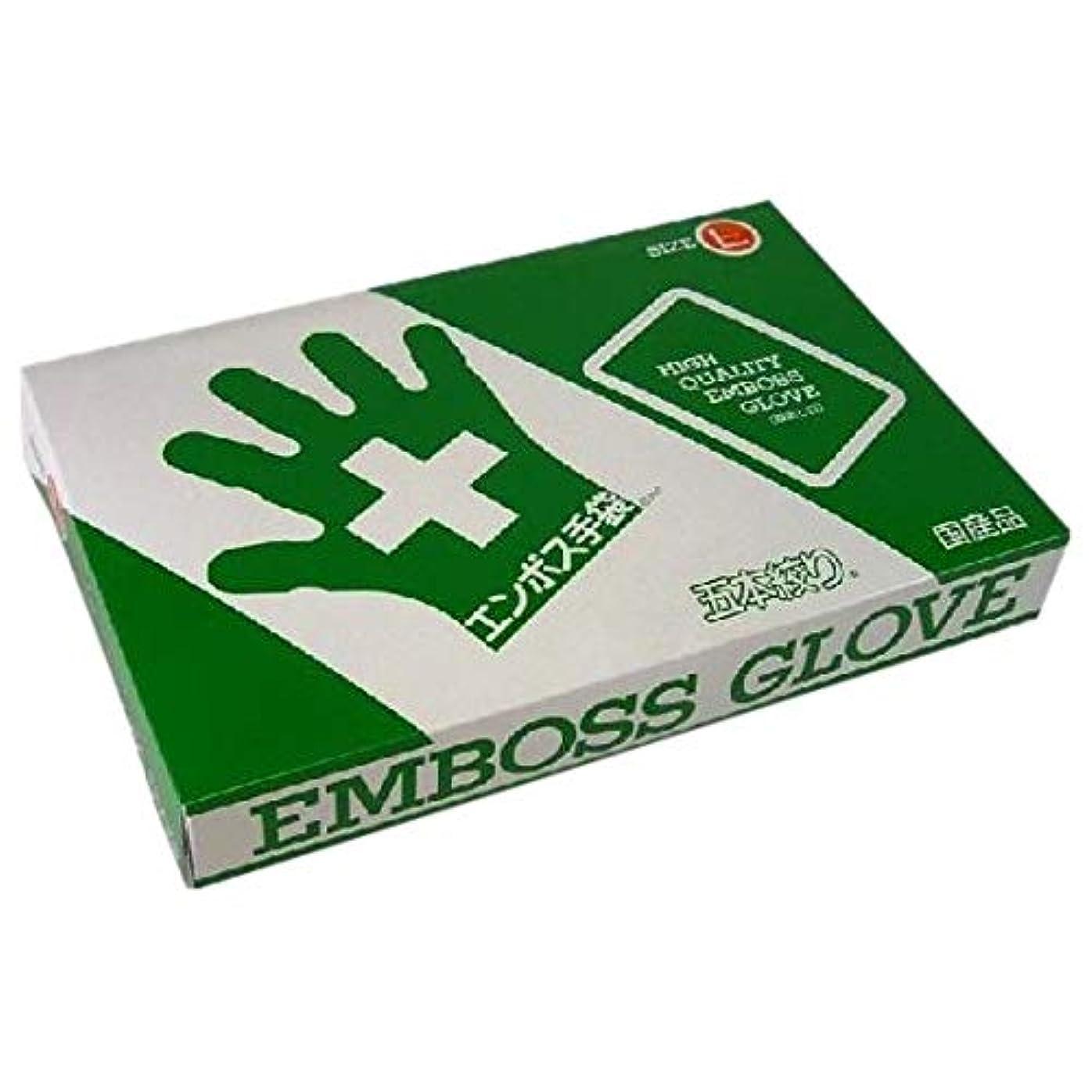 加入異邦人ロゴエンボス手袋 5本絞り(使い捨て手袋国産品) 東京パック L 200枚入x20箱入り