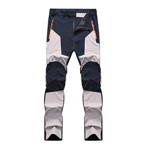 CRMY Men's cycling trousers Long thermal outdoor trousers with fleece lining - windproof and water-repellent Hiking trousers Softshell trousers Ski trousers Snowboard trousers