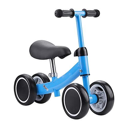 SUYANG Mini Scooter, Scooter De Equilibrio, Entrenamiento De Equilibrio Mini Bicicleta Scooter Walker Scooters para 1-2 Años De Edad Bebé (Azul)