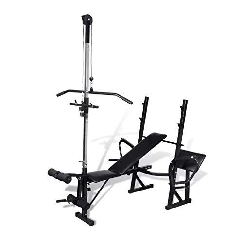 GOTOTOP Banco de pesas ajustable, banco de pesas plegable con soporte para...
