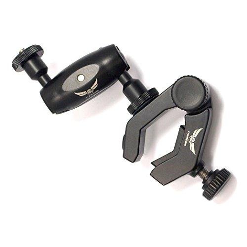 Parrot Superclamp von Firmcam - Stativklemme mit doppeltem Kugelkopf und 3D Gelenkarm– aus robustem Aluminium, Tragkraft bis 2,5 kg