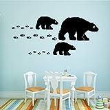Tier Eisbär Selbstklebendes Vinyl Wasserdicht Wandkunst Aufkleber Wanddekoration Wandbilder Silber L 42cm X 79cm
