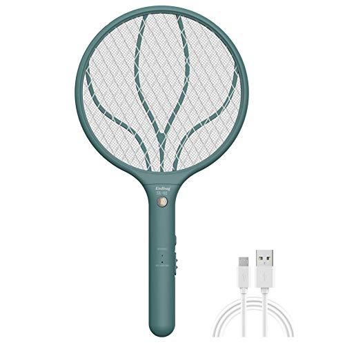 Lukasa Racchetta Zanzare Elettrica USB Ricaricabile, Swatter Insetti Elettrico Repellente Mosquito Killer Elettronico Volare Anti-Insetti Stermina Uccisore Mosche Insetticida