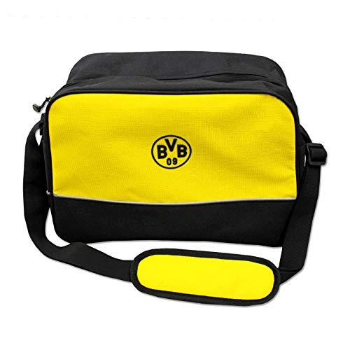 Borussia Dortmund Erwachsene BVB-Schultertasche Tasche, schwarzgelb, one Size