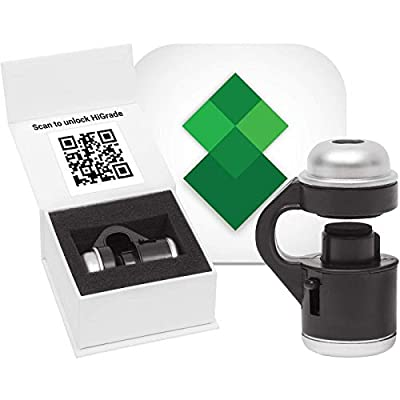 The HiGrade Kit 30x LED Lighted Smartphone Microscope & App Activation Code