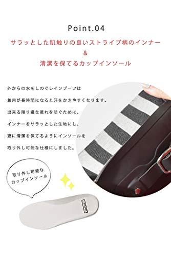 [トドス]レインブーツロングラバーレインブーツTO-079レディース長靴パッカブル靴雨雪ネイビーS(22.5cm~23cm)