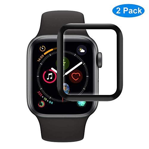 RHESHINE Panzerglas Schutzfolie Kompatibel für Apple Watch Series 3 Series 2 Series1 38mm 9H Hartglas Transparenz iWatch Series 3/2/1 38mm Bildschirmschutzfolie 3D Touch Tempered Glas Anti-Öl (Schwarz)