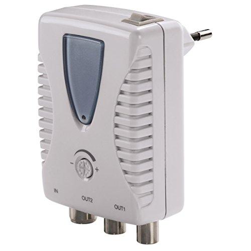 Hama 00123393 Amplificador señal de TV - Amplificador de señal de TV (Coax, Gris, Color Blanco)