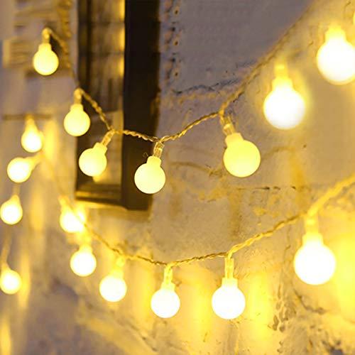 Fulighture 5M Guirlande Lumineuse,Guirlande Lumineuse Boules,40 Petites Boule Étanche IP65,Alimenté USB, Eclairage Décoration Intérieur et Extérieur, pour Maison,Festival,Blanc Chaude(3300K)
