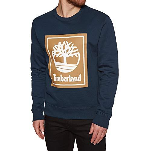 Timberland Crew Stack Logo Sweater Small Dark Sapphire