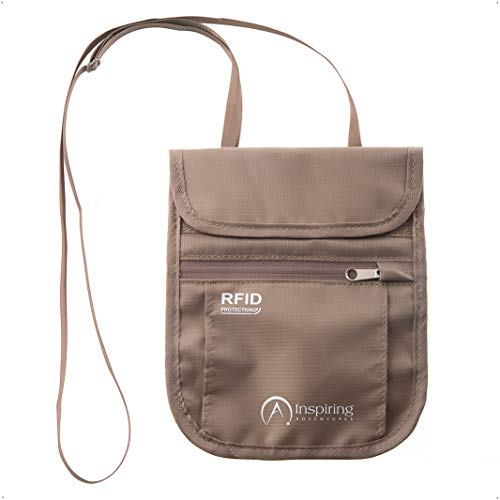 Travel Neck Wallet - RFID Blocking Security – Water Resistant Hidden Neck...