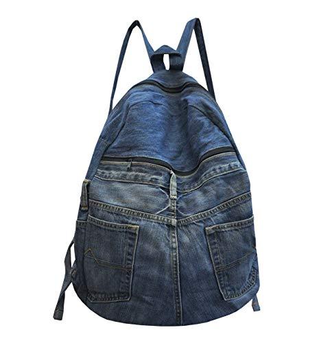 wifash Jeans Jeanstasche aus Jeanshosen genäht Umhängetasche Rucksack Schultertasche/Upcycling - aus Alt mach Neu (Rucksack 42098)