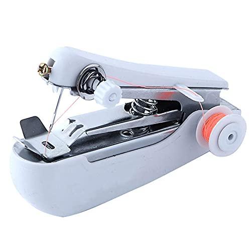 N / B Mini máquina de Coser de Mano, Costura portátil inalámbrica Mini máquina de Coser de Telas de Ropa de Mano para Principiantes y Adultos, fácil de Usar y Puntada rápida
