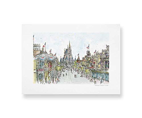 Main Street USA Art | Quality Prints taken from my Original Detailed Illustration & Watercolor.