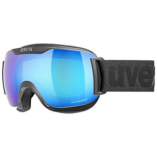 Uvex Downhilll 2000 S Cv Skibrille, Black mat/Blue-Green, one Size