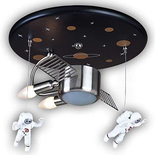 Plafondlamp Astronaut Spaceman Kunststof Metaal Moderne Hanglamp, Kinderlamp Hanglamp Binnen Plafond Decoratief Meisje Jongen Kwekerij Slaapkamer Lamp