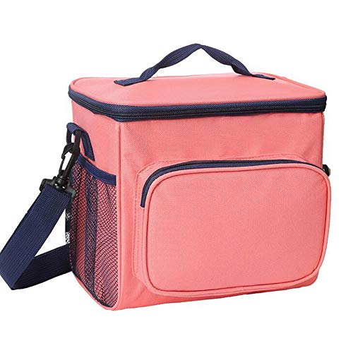 Isolatie Bag, Insulated Lunch Bag, Women's Koeltas, Lunch-Proof Cool Lunch Bag Met Afneembare Schouderriem Voor De Lunch Eten, Picnic,Pink