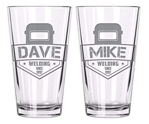 Welding, Welding gifts, Welder, Gifts for welder, New dad gifts, Father's Day gift, Dad Mug, Dad, Gifts for him, Pint glass