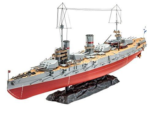 Revell Modellbausatz Schiff 1:350 - Russian WWI Battleship Gangut im Maßstab 1:350, Level 5, originalgetreue Nachbildung mit vielen Details, 05137
