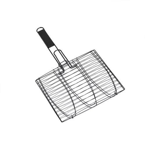 Point-Virgule PVB-BBQ-0217 Grille Barbecue à Poisson pour 3 Pièces-28 X 28 cm