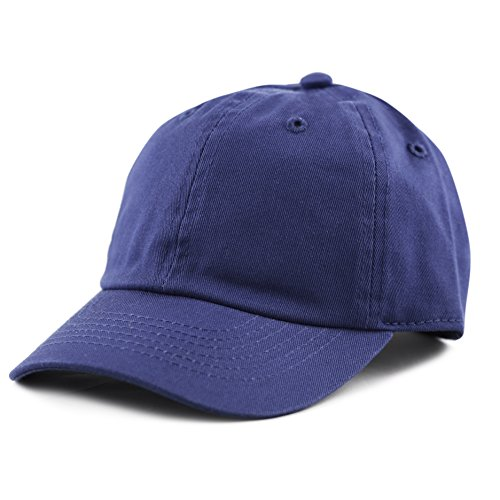 The Hat Depot Kids Washed Low Profile Cotton and Denim Baseball Cap (Royal)
