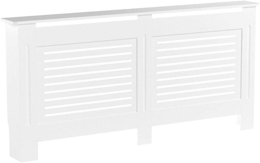 Vida Designs Radiator Cover Modern White Painted MDF Cabinet Extra Large /& Milton Radiator Cover Modern White Painted MDF Cabinet Small
