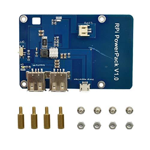 SKYYKS Nessuna Versione Batteria Batteria al Litio Alimentatore Scheda di espansione con Interruttore per Raspberry Pi 3,2 Modello B, 1 Modello B +