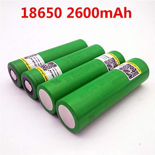 4 Stück 18650 2600mAh Batterie 3,6 V 18650 US18650 30A Entladungsbatterie mit hohem Stromverbrauch