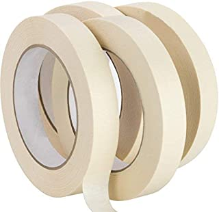 Nova Supply 3/4 in Pro-Grade Masking Tape. 60 Yard Roll 4 Pack = 240 Yards of Multi-Use, Easy Tear Tape. Great for Labelin...