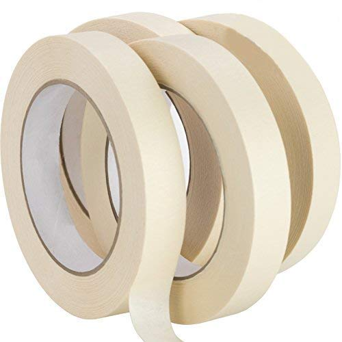 Nova Supply 3/4 in Pro-Grade Masking Tape. 60 Yard Roll 4 Pack = 240 Yards of Multi-Use, Easy Tear...