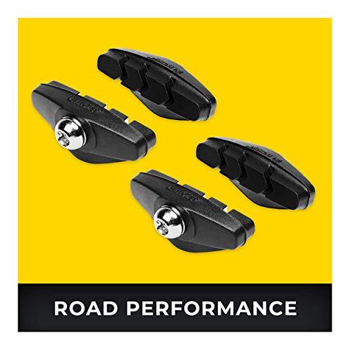 Rennrad Bremsbeläge 2 Paar 50mm I Für Shimano, SRAM, Cane Creek, TRP UVM I Hohe Bremsleistung I Langlebige & Passgenaue Bremsklötze