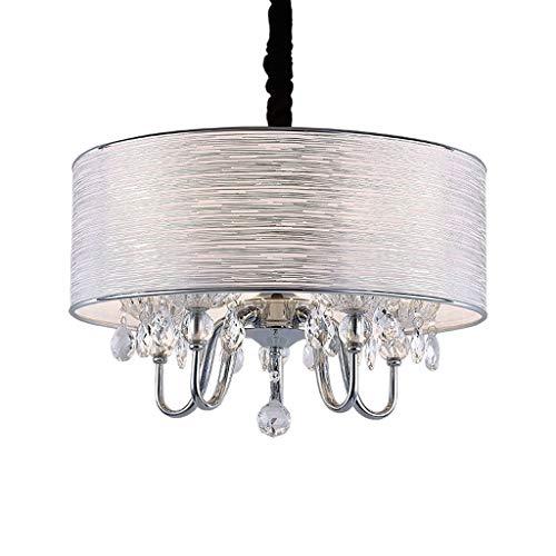 YANQING Duurzame Kroonluchters Modern Glas Kristal Kroonluchter Eenvoudige Doek Lampenkap Droplight Plafond Licht voor Woonkamer Corridor Restaurant Hanger Verlichting (Kleur : 50cm), Kleur:50cm