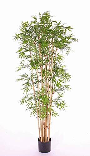 artplants.de Künstlicher Bambus, 2410 Blätter, 180cm, wetterfest - Kunst Bambus