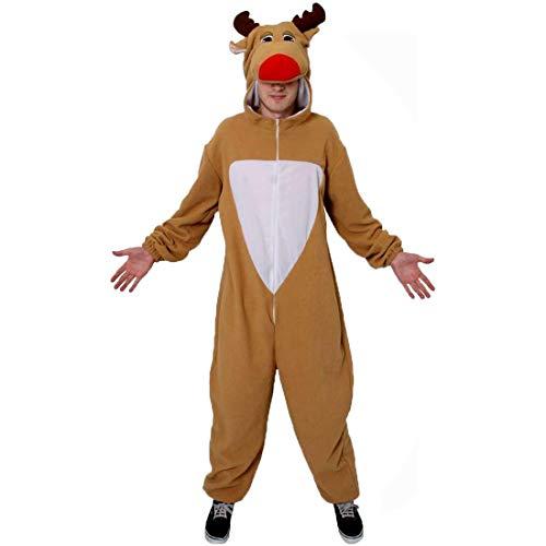 I LOVE FANCY DRESS LTD Disfraz DE Reno Adultos Disfraz NAVIDEÑOS Mono - Mono DE Lana con Capucha DE Reno ADJUNTA - Traje DE Navidad Rudolph AYUDANTE DE Santa Reno - TAMAÑO: PEQUEÑO