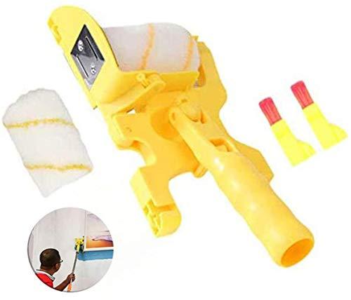 Crazy Ling Easy Wall Edge Clean-Cut Brush, Paint-Runners Pro Juego de brochas Rodillo de Pintura Mango para Pintura de Pared, Herramienta Segura para brocha de Borde de Pintura de Corte Limpio