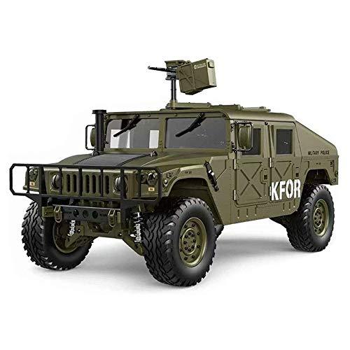 ELVVT 2.4G 4WD Geschwindigkeit Fernbedienung LKW 1/10 hohe Simulations-RC Hummer Auto 16CH 30 km/h Elektro RC-Militär-Jeep Toy Auto Beruf (Color : Grün)